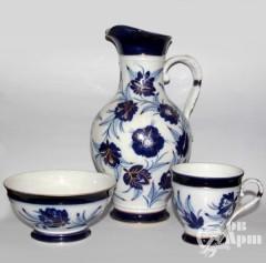 Набор: ваза, плошка и чаша